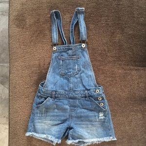 Vanilla Star Denim Overall Shorts